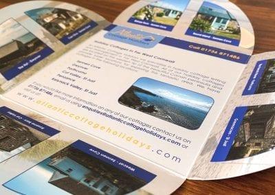 Atlantic Cottage Holidays Shaped Flyer Design