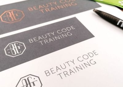 Beauty Code Training Logo Design