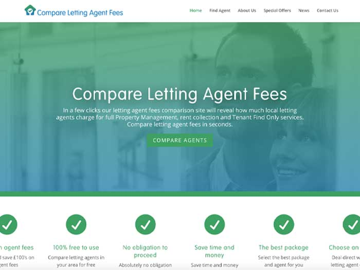 Compare Letting Agent Fees Website Design