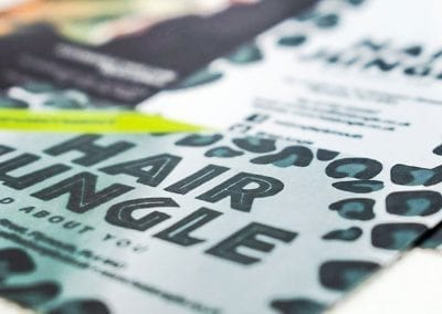 Hair Jungle Stationery and Leaflet Designs