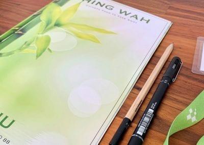 Hing Wah Menu Design