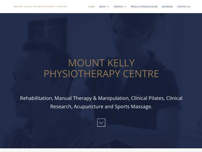 Mount Kelly Physio Website Design