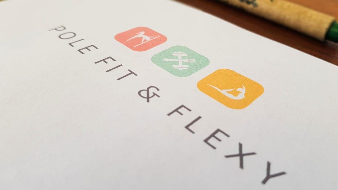 Pole Fit & Flexy Logo Design