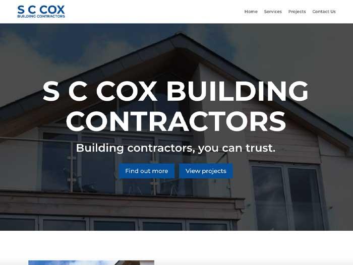 S C Cox Building Contractors Website Design