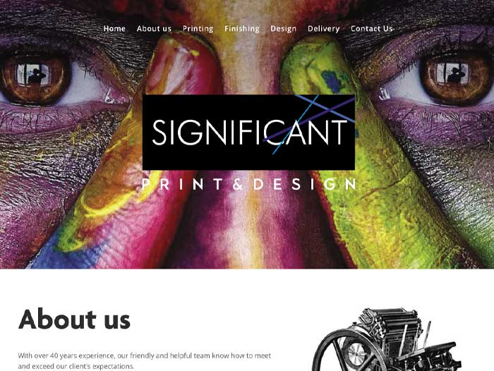 Significant Print and Design Website Design