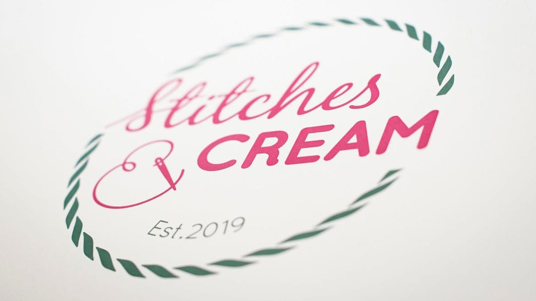 Stitches & Cream Logo Design