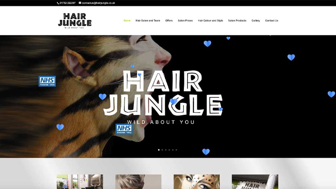 Hair Jungle Website