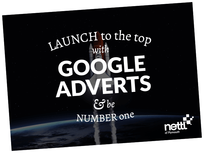 A rocket launching to number one of Google, with the help of a Google Ads specialist.