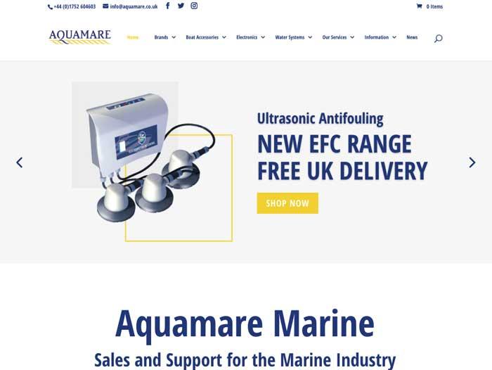 Aquamare Website Design