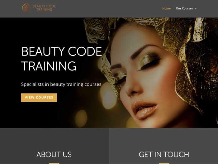 Beauty Code Website Design