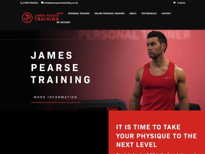 James Pearse Training Website Design