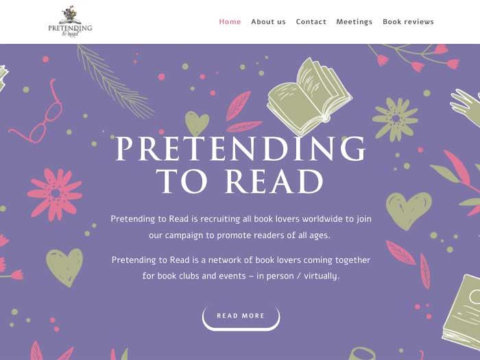 Pretending to Read Website Design