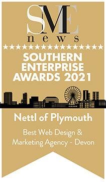 Best Web Design and Marketing Agency Southern Enterprise Award 2021
